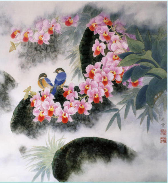 Цветы и птицы, цветы, птицы,