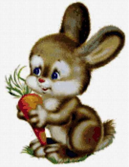 Зайчик, зайчик, морковь, для