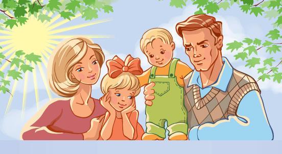 Счастливая семья, оригинал