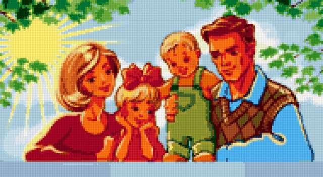 Счастливая семья, предпросмотр