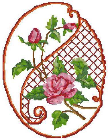 Узор для салфетки, роза
