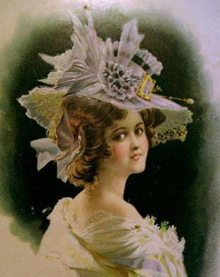 Портрет модницы в шляпке,