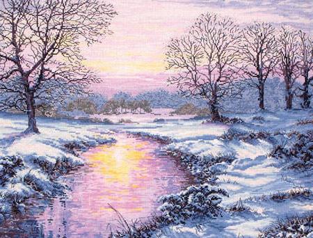 Зимние утро, зима, утро, снег,