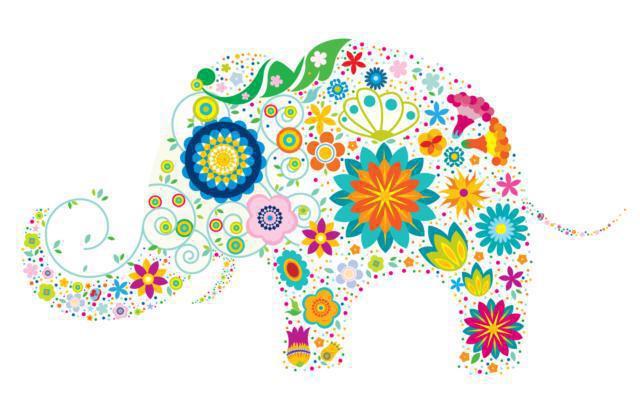 схему вышивки «Слон из