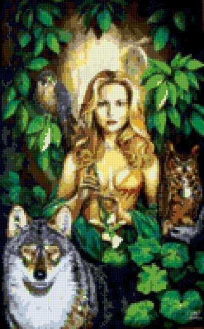 Богиня охоты, девушка, женщина
