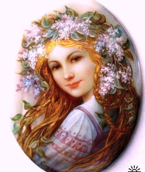 ... , венок, живопись, картина, искусство: www.xrest.ru/original/Портрет девушки в венке...