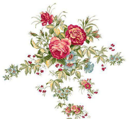 схему: орнамент, цветы,