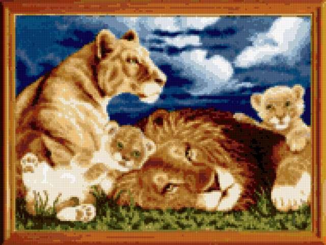 Львята, львята, львы, хищники,