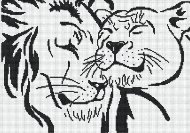 Лев и львица, оригинал
