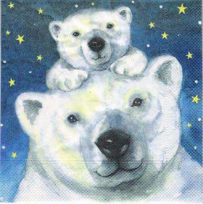 Белые медведи, живопись