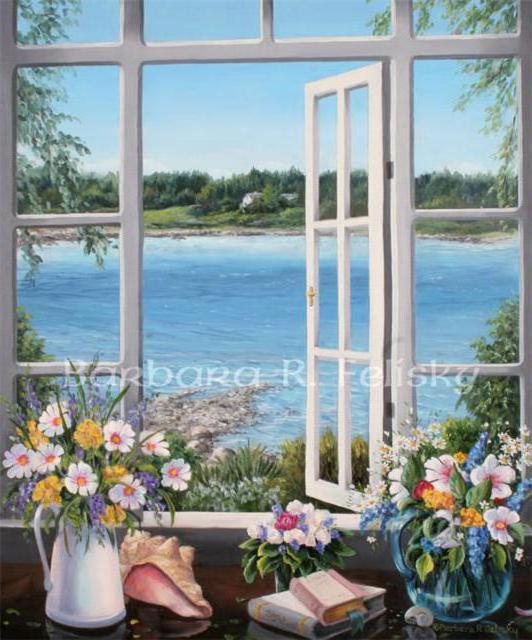 Пейзаж за окном, оригинал