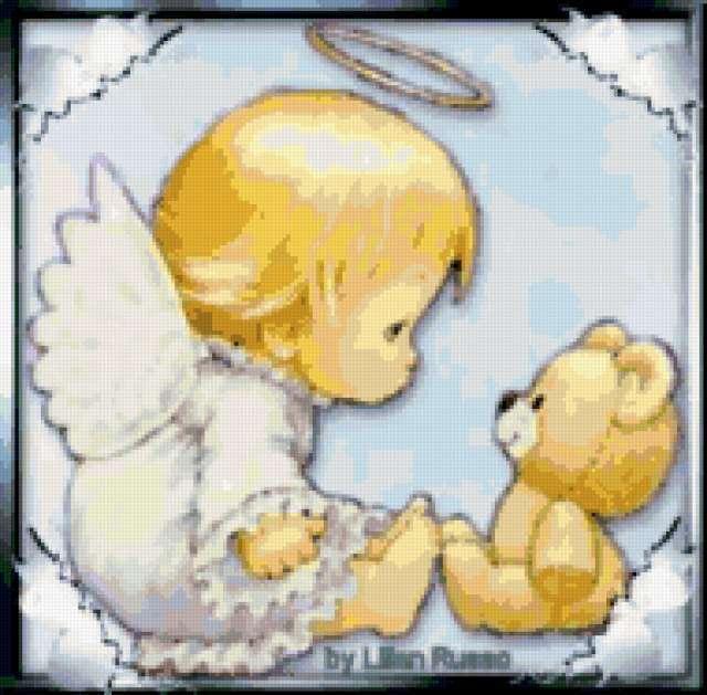 Ангел и мишка, предпросмотр