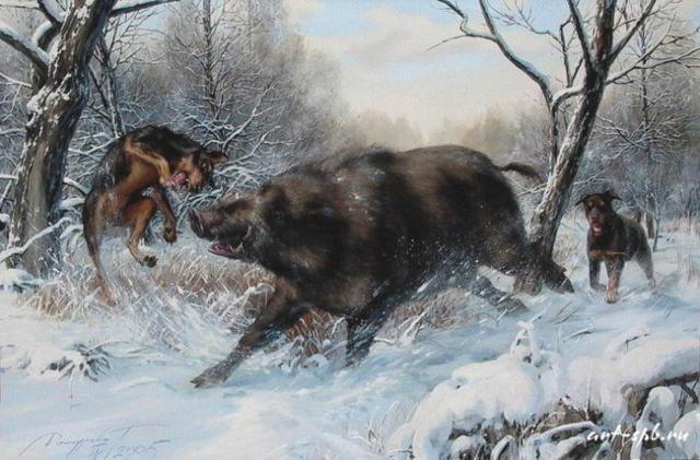 Охота на кабана 1, оригинал