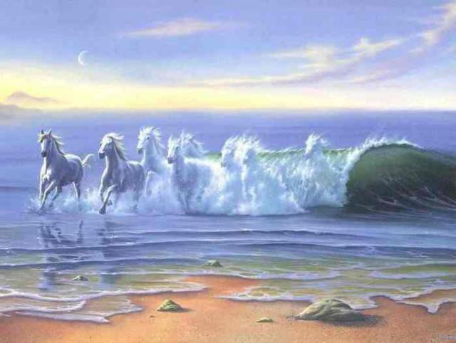 Волна, волна, лошади