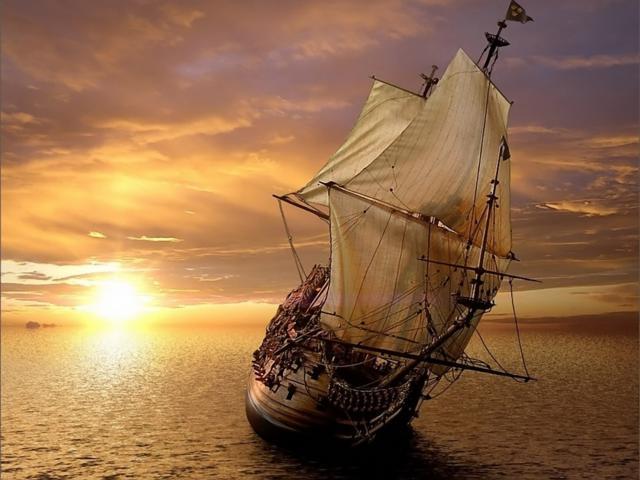 Корабль на рассвете, оригинал