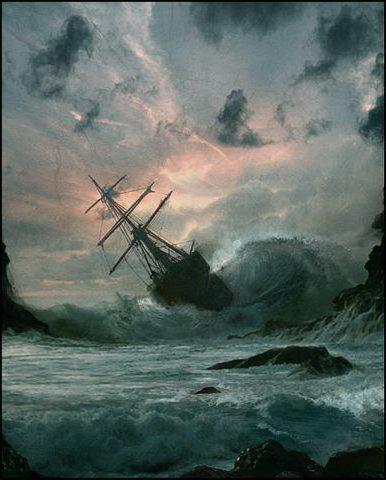 Морская буря, шторм, корабль