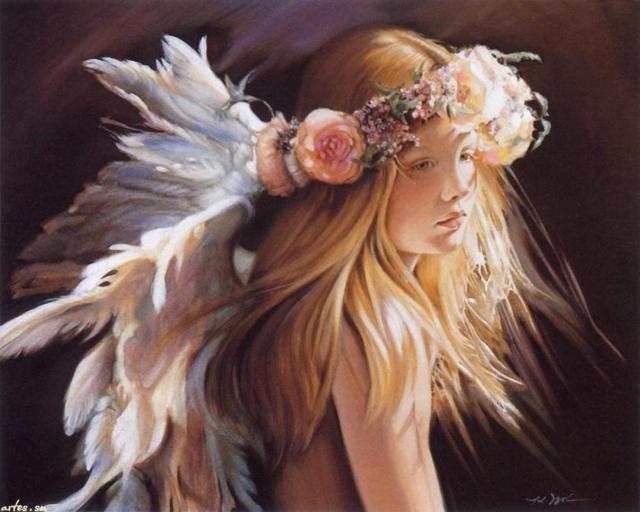Девочка-ангел, ангел, дети,