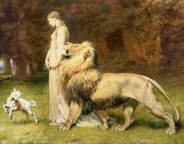 Укрощённый лев и ягнёнок,