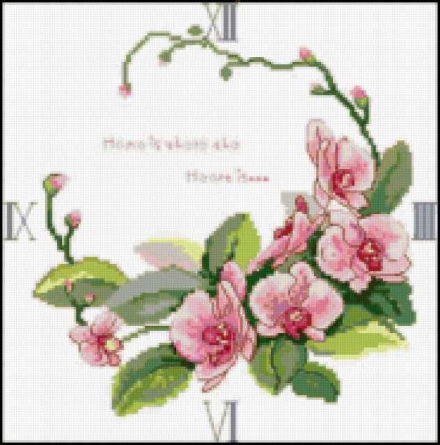 Часы орхидеи, предпросмотр