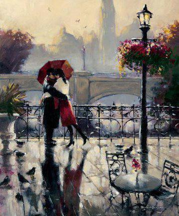 влюблённые под дождём картинки