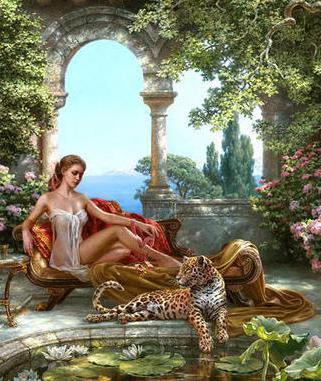 Девушка и ягуар, оригинал