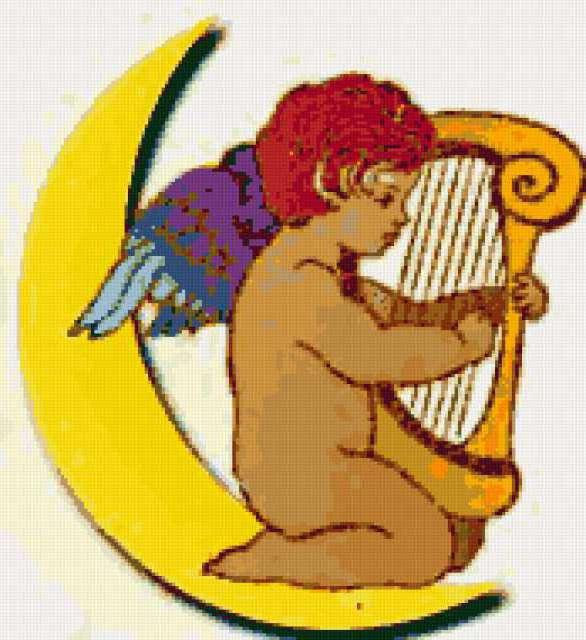 Ангел с арфой, предпросмотр