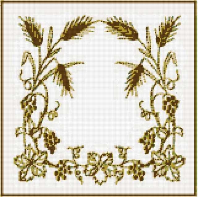 Колоски схема вышивки крестом