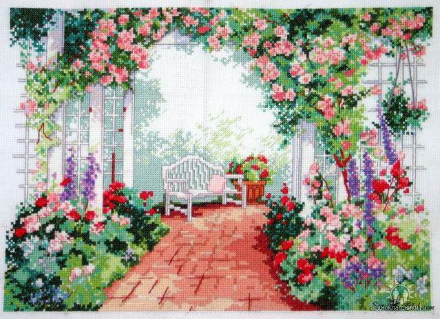 Цветы у беседки, оригинал