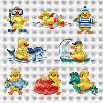 Мини-вышивки для малышей,