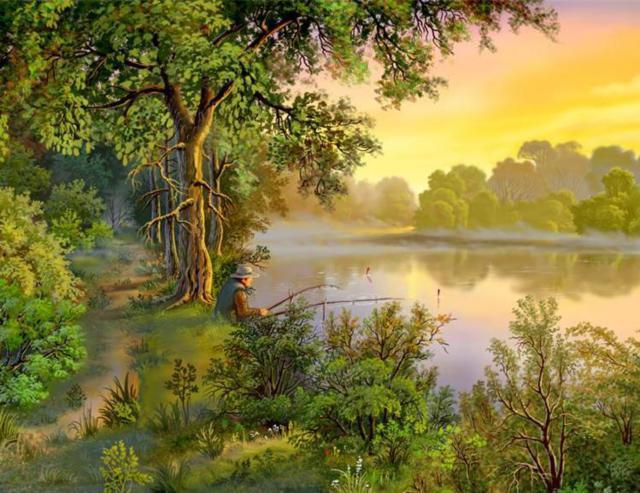 Рассвет на реке, оригинал
