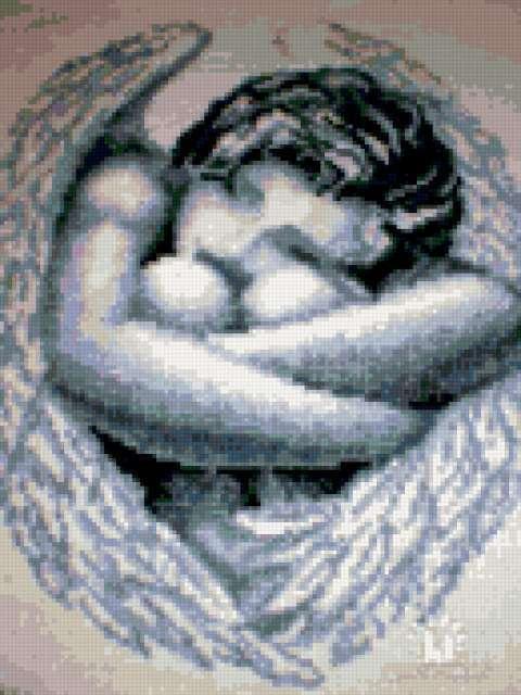 К схеме вышивки «Спящий ангел»