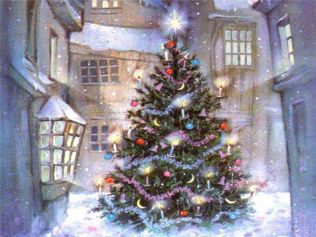 двор, праздники, новый год