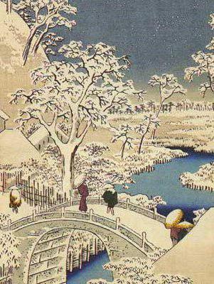Зима в японском стиле,