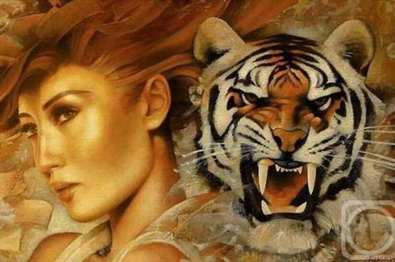 Девушка и тигр, оригинал