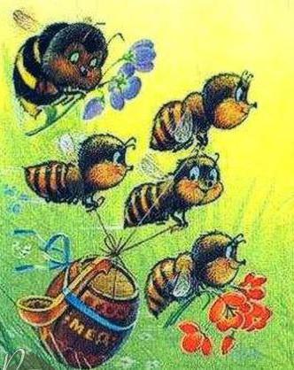 Пчёлки в детскую, насекомые,