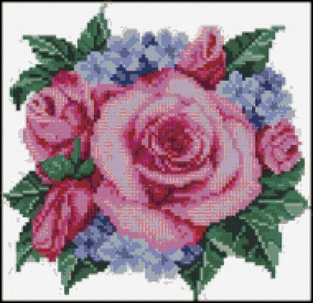 """Подушка """"Розы"""", цветы, флора,"""