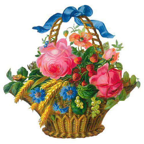ЦветЫ в корзине, оригинал