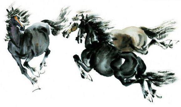 Лошадки в китайском стиле,
