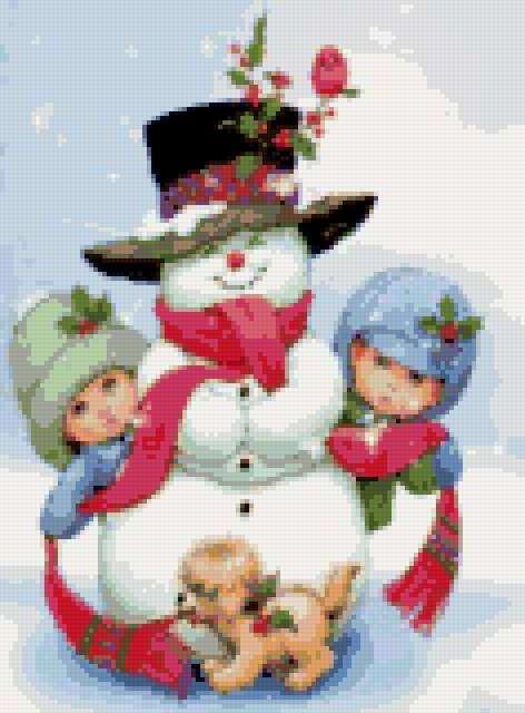 Снеговик, предпросмотр