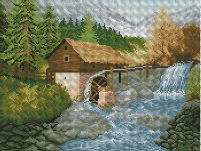Альпийский пейзаж, пейзаж