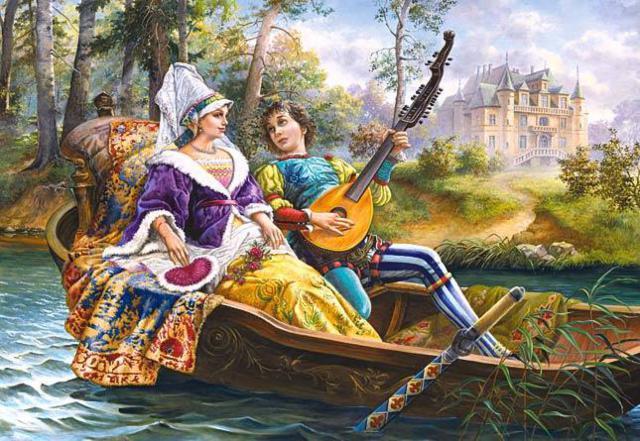 Оригинал вышивки «Любовная серенада в ...: www.xrest.ru/original/Любовная серенада в...