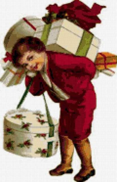 К схеме вышивки «Подарки» нет