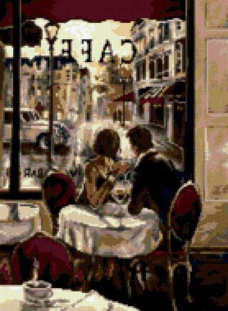 Свидание в кафе, романтика,