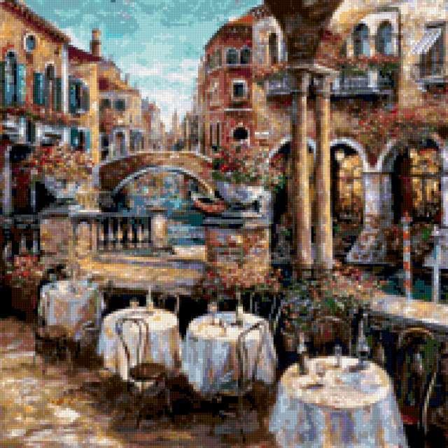 Кафе в Венеции, предпросмотр