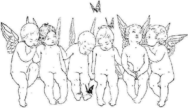Купидоны, ангел, ангелы, дети,