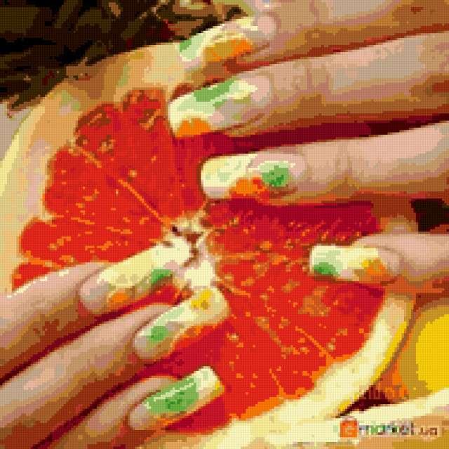 Апельсин в руках, предпросмотр