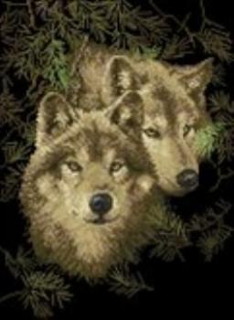 Верность волки схема вышивки