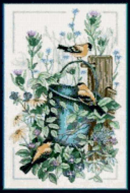 Синицы в саду, предпросмотр