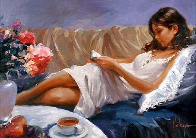 Девушка за чтением книги,