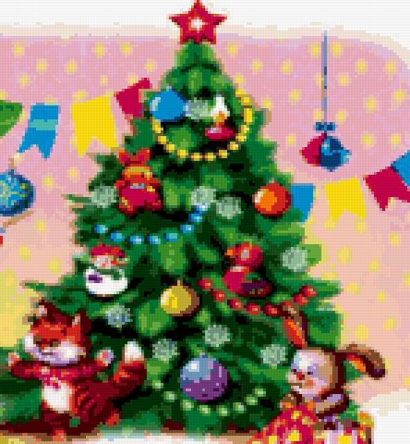 Новогодняя ёлка, игрушки